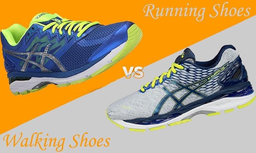 giày chạy bộ và giày đi bộ